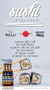 Sushi events valencia Cafe Balli